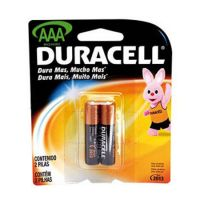 Pilhas Alcalinas Duracell 2AAA