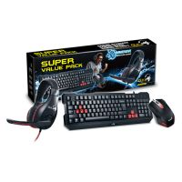 Kit Teclado e Mouse + Headphone Genius KMH-200 USB Preto