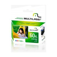 Cartucho Compatível HP D2530/D2545/D2560/F4280/F4480 Color (60XL)  13,5ML Multilaser